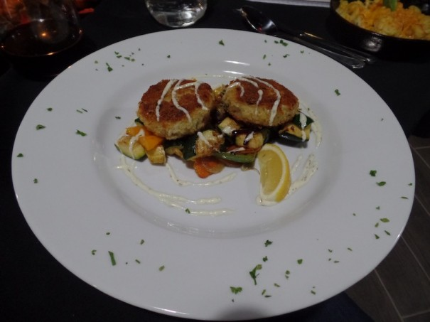 Crab cakes are one of the entrees at the Old Orchard Tavern at the Mountain Cascades hotel on Sugarloaf Road.